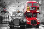 Wizard + Genius Wallpaper Giant Art 00698 Taxi & Bus By Colemans